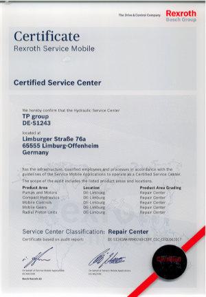 Rexroth-Zertifikat